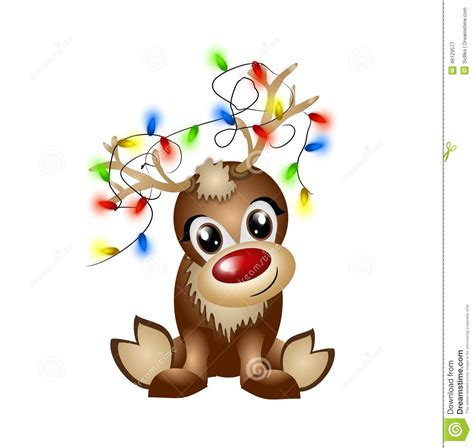 reindeer with lights reindeer with light chain stock illustration image of