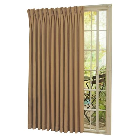 thermal patio door curtains eclipse thermal blackout patio door 84 in l curtain panel