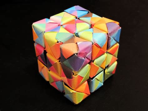 cool origami origami cube by lucky m3 on deviantart