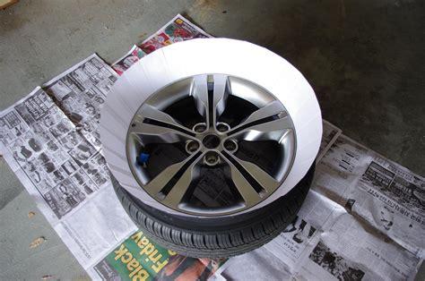 spray paint your rims black how to plasti dip rims cars one