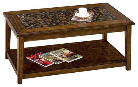 mosaic tile coffee table jofran 698 1 baroque brown rectangular mosaic tile top