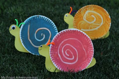 paper plate snail craft easy children s craft swirling snail my frugal