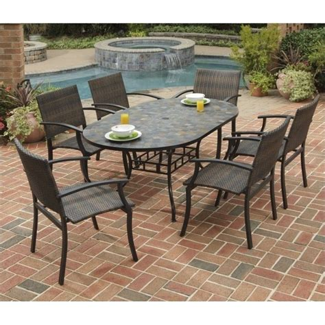metal patio dining sets 7 metal patio dining set in black 5601 33812