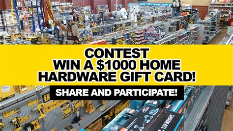 card contest contest win a 1000 home hardware gift card