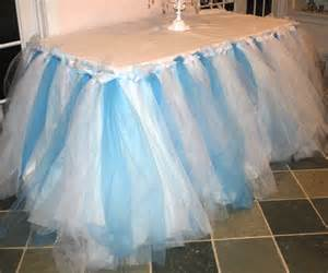 how to sew on tulle no sew tulle table skirt the mamanista