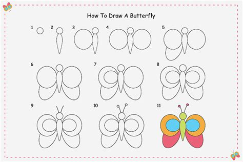 butterfly step by step how to draw a butterfly step by step for