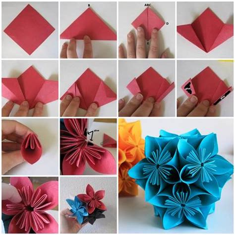 how to make a craft paper flower how to make beautiful origami kusudama flowers origami