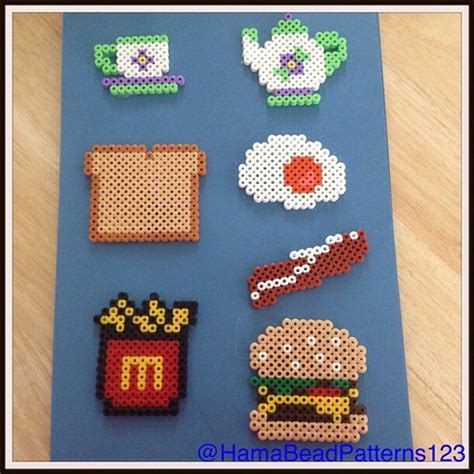 food perler 1000 images about hama food on perler