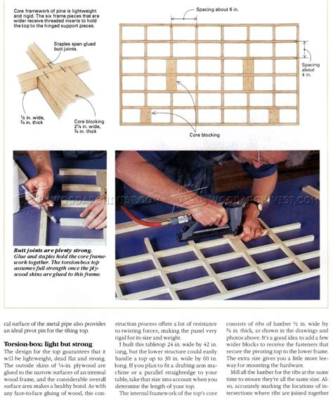 drafting table woodworking plans knockdown drafting table plans woodarchivist
