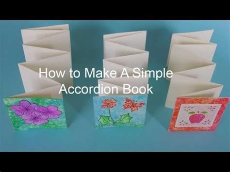 easy picture books how to make a simple accordion book