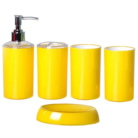 yellow accessories for bathroom bright yellow bathroom accessories house decor ideas
