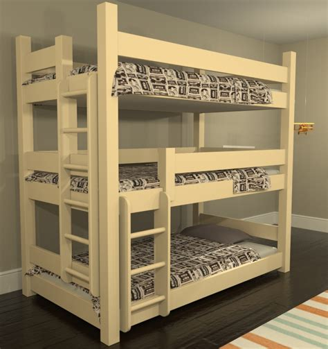 three way bunk bed custom bunk beds coastal maine bunk bed