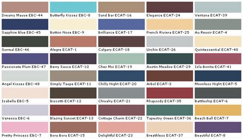 behr colors of paint behr paints chip color swatch sle and palette 2017