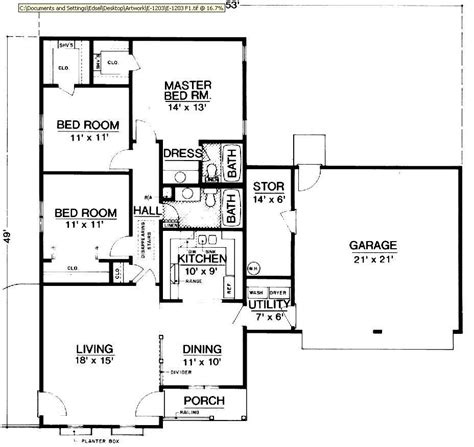 bungalow floor plans free hyde park 1203 2846 3 bedrooms and 2 5 baths the