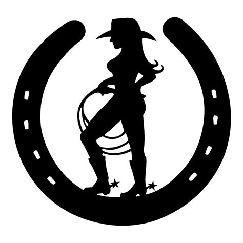 Vinyl Stickers Wall cowgirl horseshoe cowboy western truck stickers