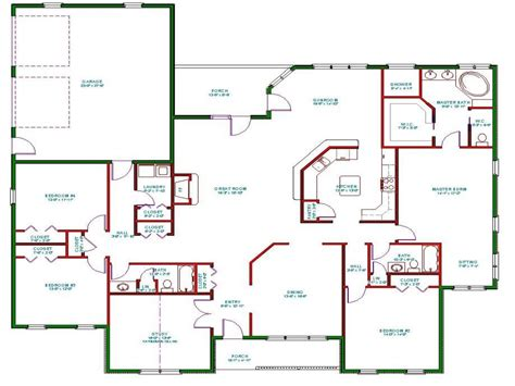 open concept floor plans one story house plans one story house plans with open