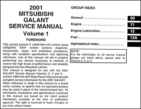 mitsubishi galant 2001 2006 car workshop manual repair manual service manual download service manual service and repair manuals 2001 mitsubishi galant electronic toll collection
