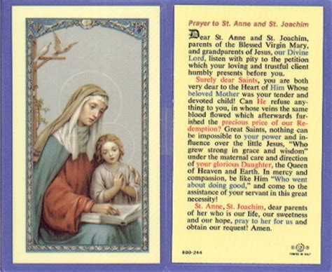 sts for cards sts joachim holy card