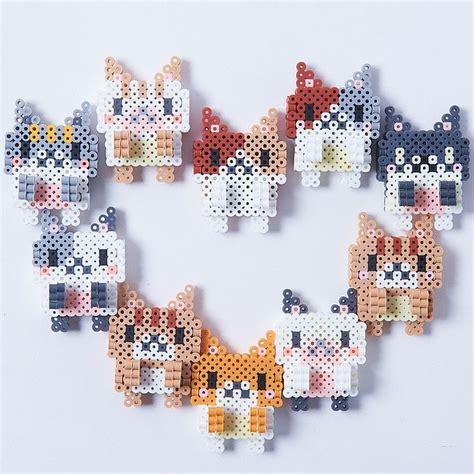 perler bead cat perler bead laptop clinging cats