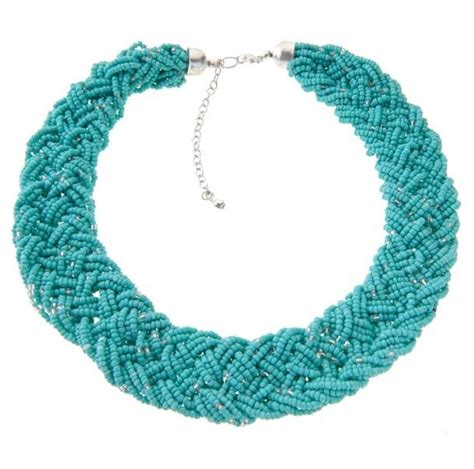 thick beaded necklace thick beaded collar necklace bling