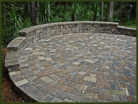 circular patio pavers jacksonville backyard hardscapes landscapes ecoscapes