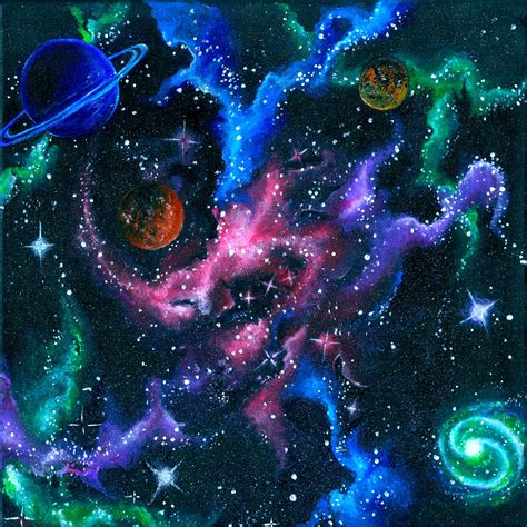 Acrylic Space Painting Request A Custom Order And