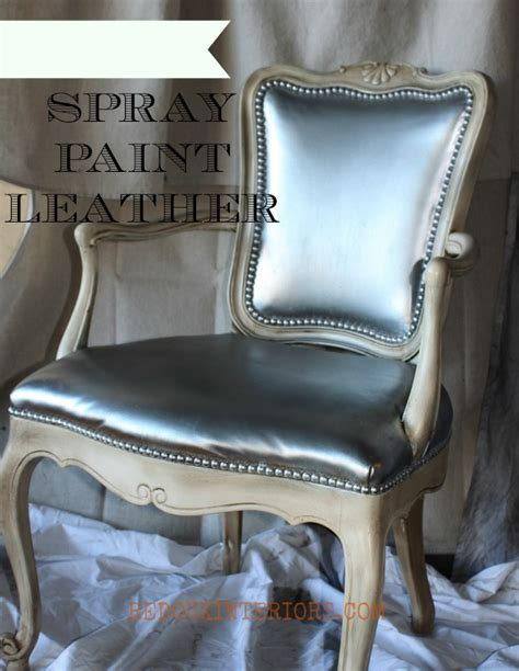 spray painting leather spray paint leather chair
