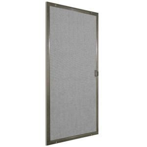 patio door screens home depot 48 in x 80 in bronze patio matic screen door pat48br