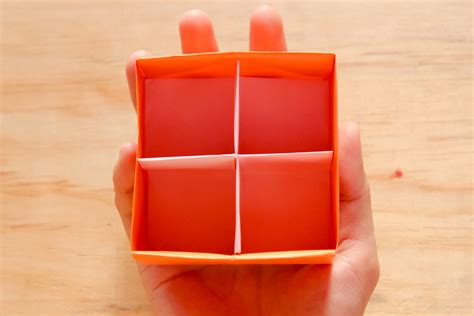 origami box with divider how to fold a divider for an origami box with pictures