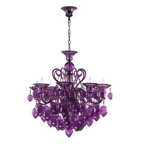 vetro 8 light purple murano glass chandelier kathy