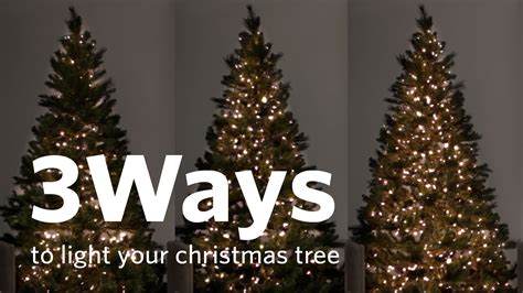 how to put lights on a tree outside how to hang tree lights 3 different ways