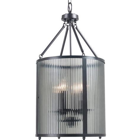 chandelier menards four light foyer chandelier with smoke ribbed globe at