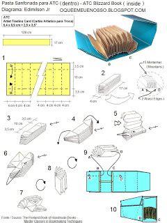 make an origami book o que 201 meu 201 nosso origami pasta sanfonada para atc