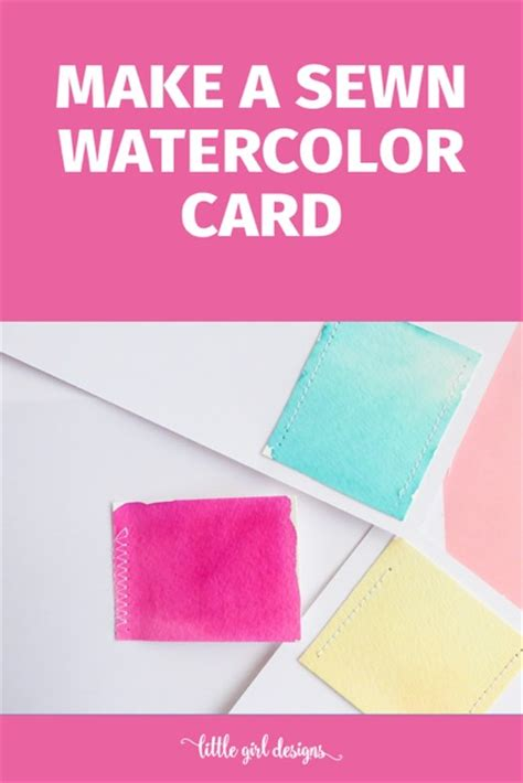 make and send cards how to make a sewn watercolor card the crafty stalker