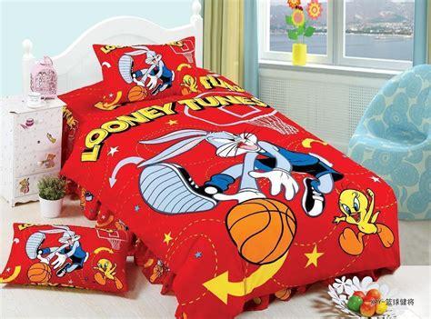 basketball bed set sports looney tunes basketball bedding set