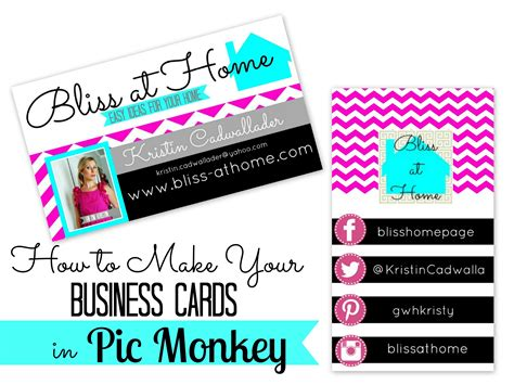 make business cards at home how to make your own business cards in picmonkey bliss