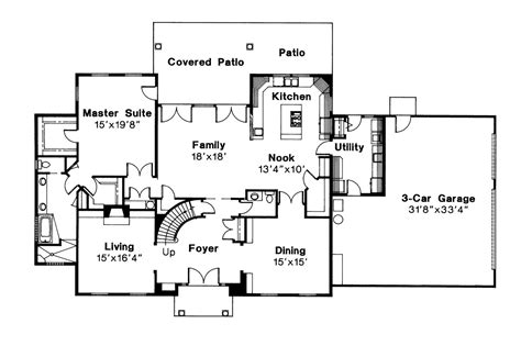 colonial house floor plans colonial house plans kearney 30 062 associated designs
