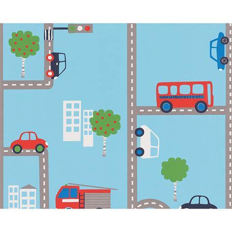 Car Room Wallpaper by Blue Transport Wallpaper Rolls 93632 1 Cars Buses