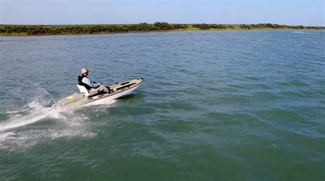 water craft for this quot kayak quot can hit 27 mph and the entire deck is fishable