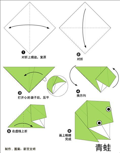 origami frog printable easy origami frog printable comot
