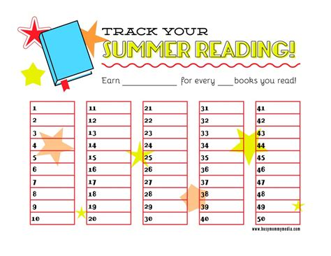 read free free printable summer reading chart