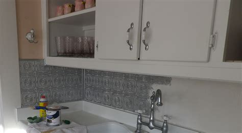 paint kitchen backsplash how to paint a faux pressed tin tile backsplash artifact