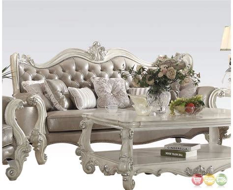 grey leather tufted sofa versailles button tufted vintage grey sofa and loveseat in