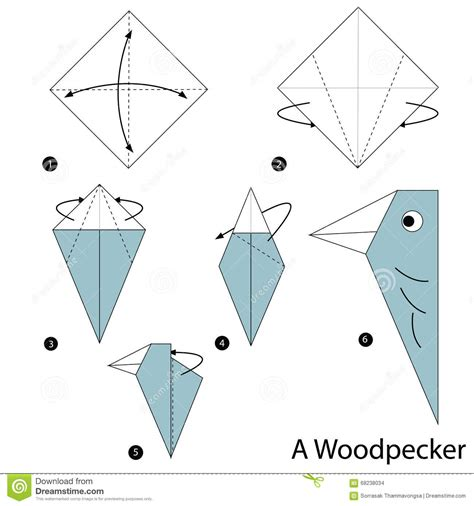 how to make an origami animal step by step how to make origami a woodpecker