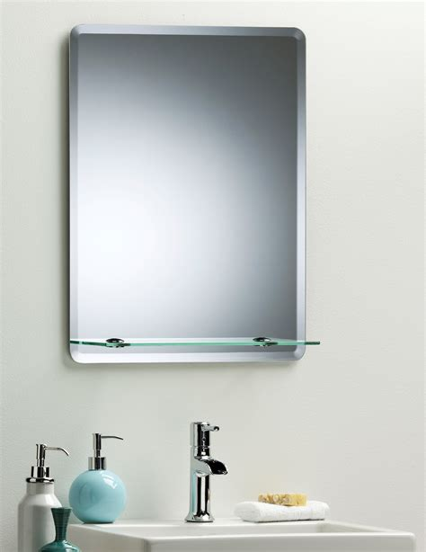 mirror shelf bathroom bathroom mirror modern stylish rectangular with shelf