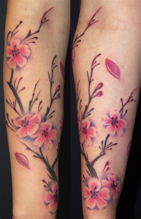 art by marvin silva tattoos traditional asian cherry