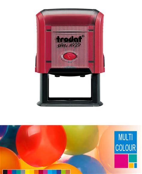 printy rubber st trodat multi color self inking 28 images multi colour