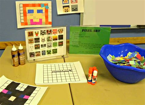 library crafts for minecraft craft table pixel kerryannmorgan