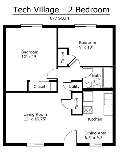 Two Bedroom Floor Plans House best 25 2 bedroom house plans ideas on pinterest tiny