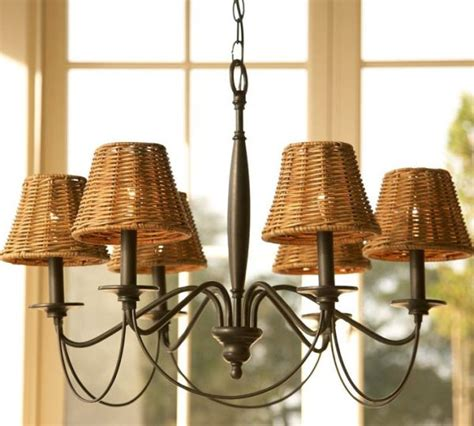 wicker chandelier shades graham wicker chandelier